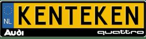 Audi-quattro-kentekenplaathouder