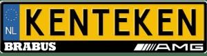 Brabus-AMG-kentekenplaathouder