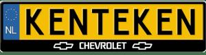 Chevrolet-3D-kentekenplaathouder
