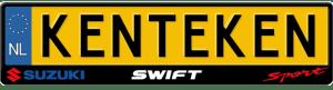 Suzuki-Swift-Sport-logo-kentekenplaathouder
