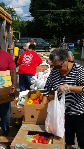 Kent-Ionia Labor's August food truck at New Life Church of God in Christ