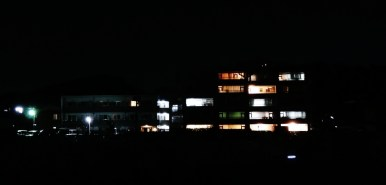 7. Building at night dark lights