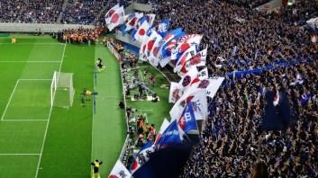 Japan soccer flags