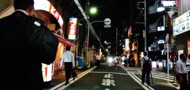Shimbashi street walking