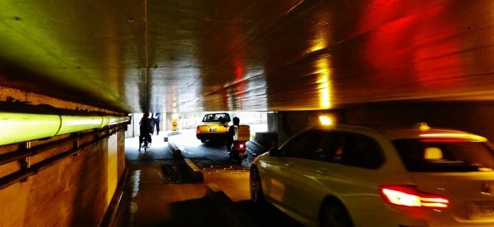 Shinagawa tunnel cars bikes