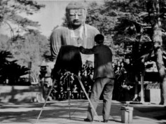 "Kamakura Big Buddha, Daibutsu, from the 1942 film, ""There was a father"""
