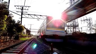 Asano station Kawasaki train sun