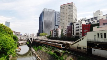 Mizonokuchi canal buildings