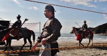 5. Yabusame Zushi beach procession man
