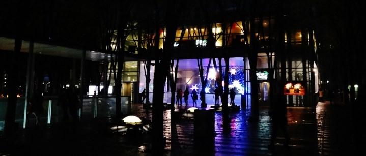 Keyaki Hiroba Plaza night lights