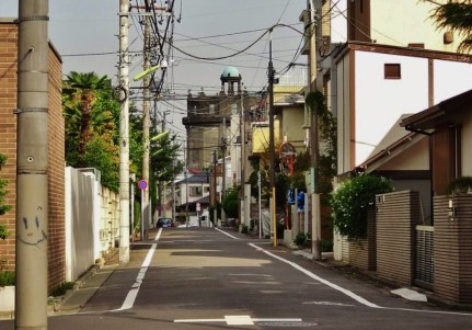 Komazawa municipal water tower Sakurashinmachi street