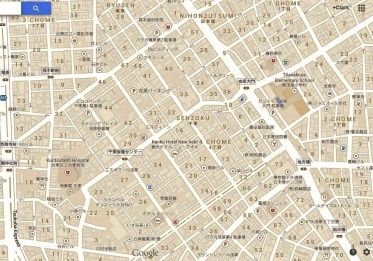 Yoshiwara map detail, 2013