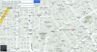 Yoshiwara map Senzoku 4-chome detail.