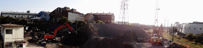 Kawasaki industrial zone gravel pit
