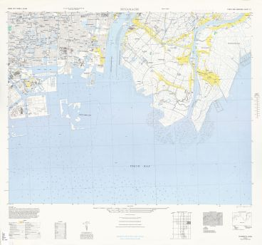 1946 US Army map of Tokyo