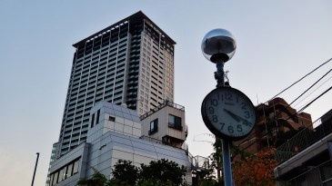 Cross Air Tower Ohashi clock dusk