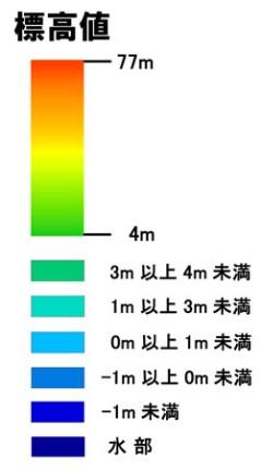 Elevation map key.