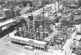 Shibuya Station south exit Shibuya Tokyu Building (now Tokyu Plaza) construction work / 渋谷駅南口 渋谷東急ビル(現・東急プラザ) 建設工事中