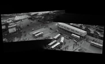 Shibuya Station bus stop 1964 Black Sun