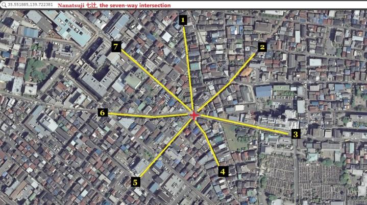 Nanatsuji seven-way intersection aerial 2