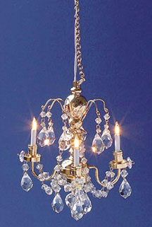Renaissance 3 Up Arm Crystal Chandelier Cir Kit