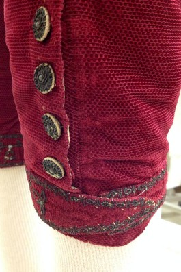 The buttons at the knee are just as beautiful as those on the coat and waistcoat except these are functional. You can see the additional wear they have taken.