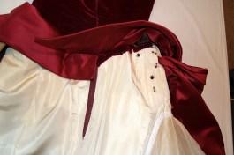 Detail of skirt interior, Charles James gown, KSUM 1983.1.413