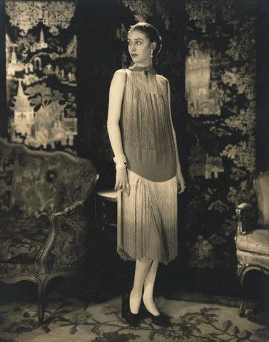 Marion Morehouse in Chanel dress photographed by Edward Steichen