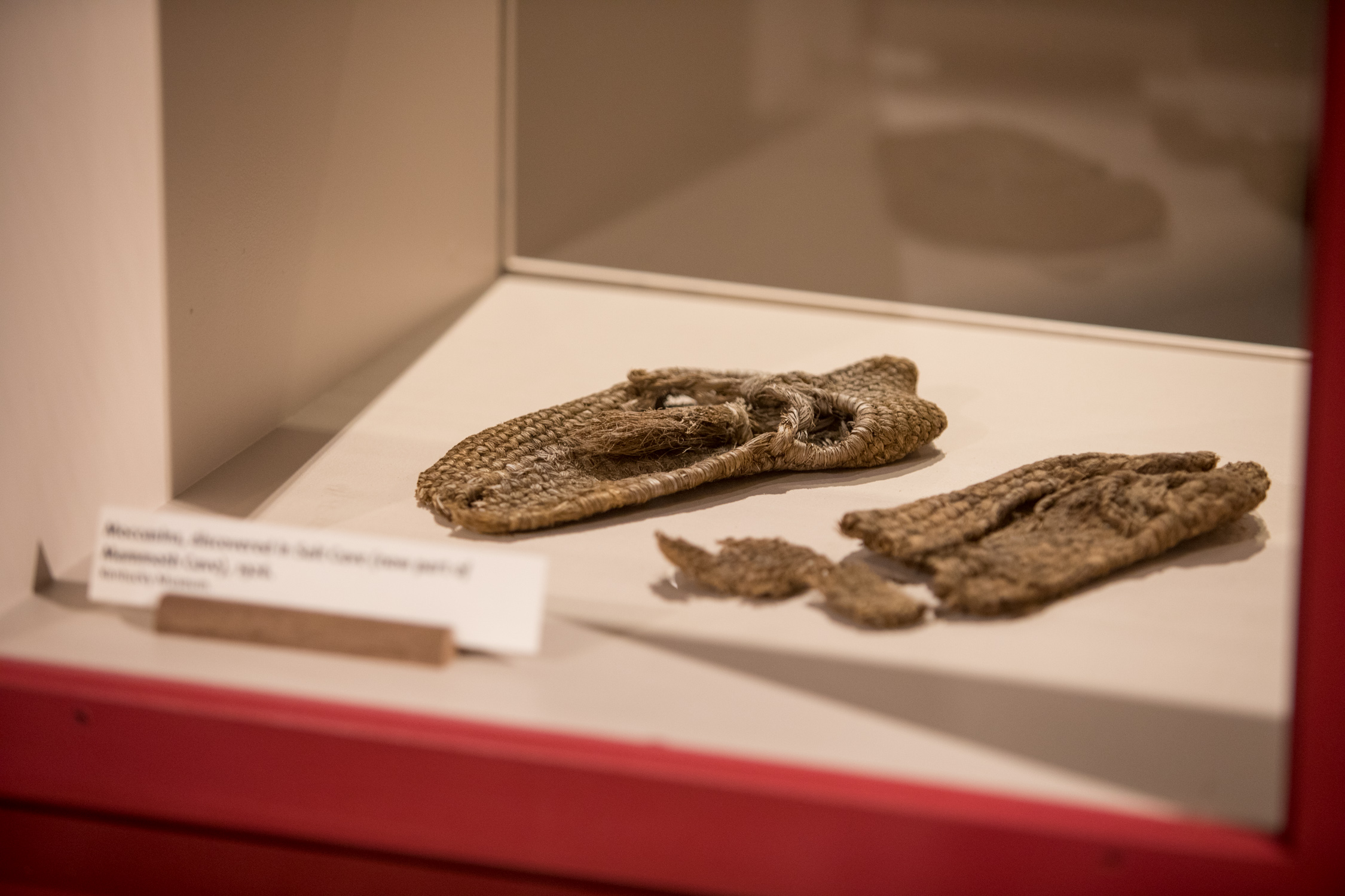 Mocassins found in Mammoth Cave