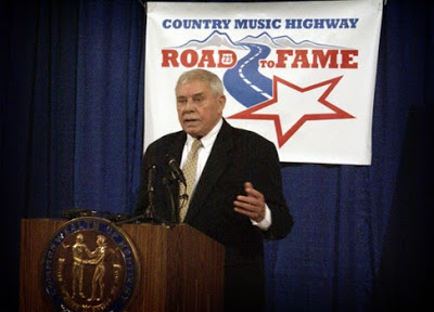 Country Music Highway Road to Fame being announced by Tom T. Hall, Kentucky music legend. Photo by Jessica Blankenship.