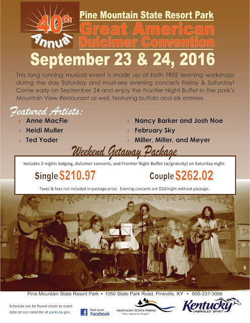 Pine Mountain State Resort Park to host 40th Annual Great American Dulcimer Convention