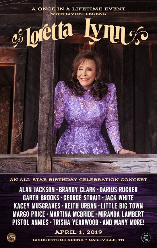 Loretta Lynn All-Star Birthday Celebration Concert Lineup