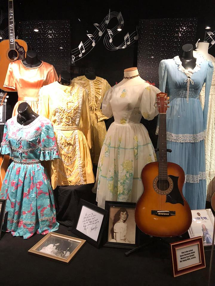 Dresses that Loretta Lynn made herself early in her career on display at the Coal Miner's Daughter Museum in Hurricane Mills. Photo by Jessica Blankenship.