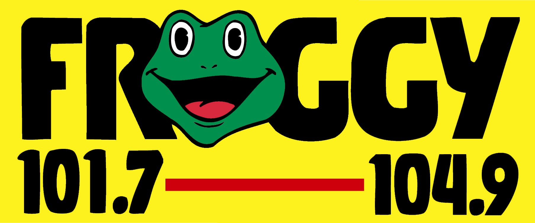 WFKY Froggy 104.9 and 101.7 Logo