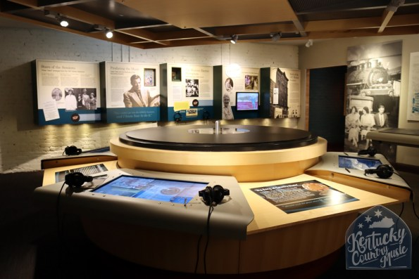 Exhibit space at the Birthplace of Country Music Museum in Bristol. Photo by Jessica Blankenship.