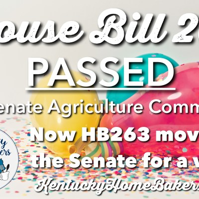 House Bill 263 Moves On!
