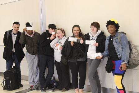 Students with their boarding passes!!