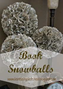 Do-It-Yourself Book Snowballs