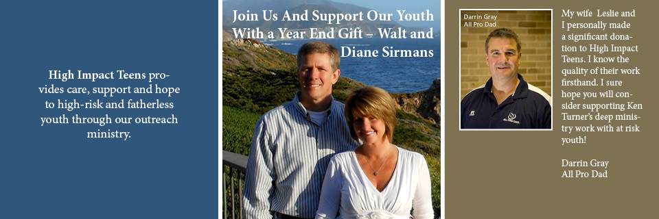 Join Us And Support Our Youth With a Year End Gift – Walt and Diane Sirmans