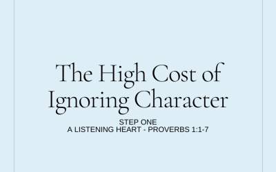 The High Cost of Ignoring Character