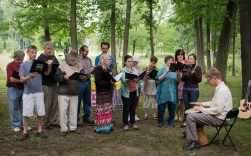 Peace Choir at the Annual Outdoor Service and Church Picnic