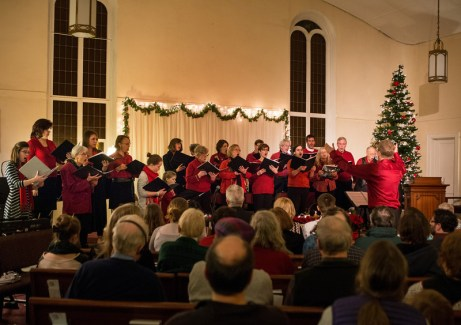 Peach Choir at Christmas Eve service