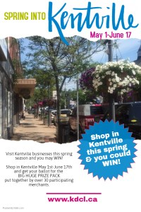 """Spring Into Kentville"" … May 1 – June 17"