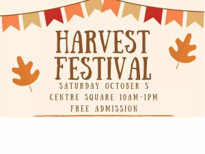 Harvest Festival – October 5th