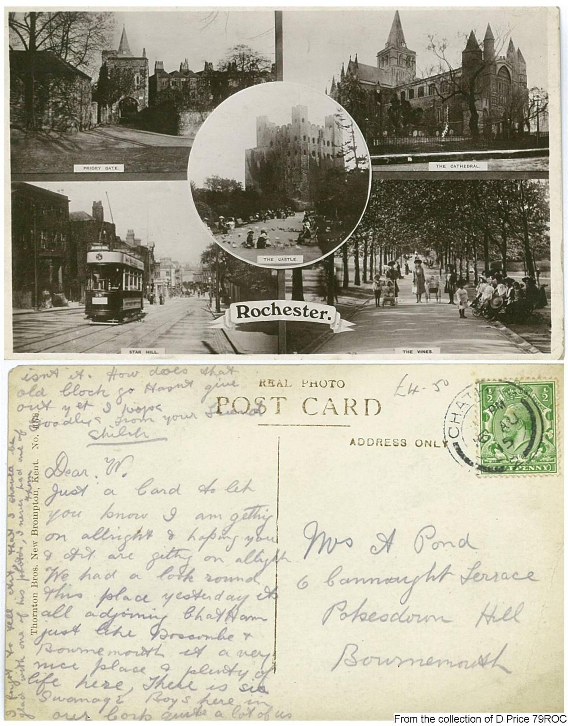 79ROC - Rochester Postcard (Front & Back)