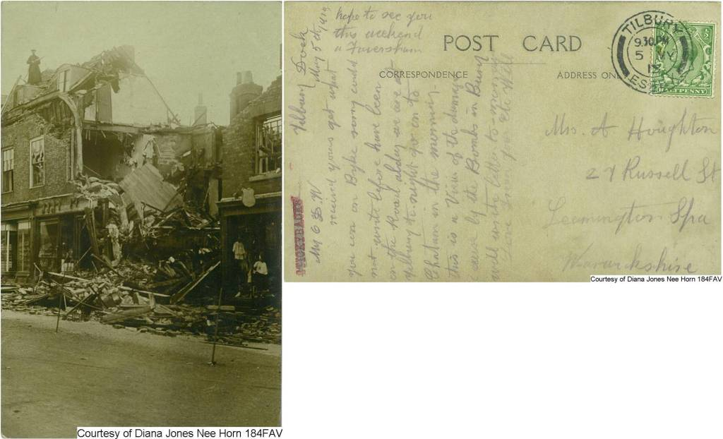 184FAV - Bomb Damage in Bury (Front & Back)