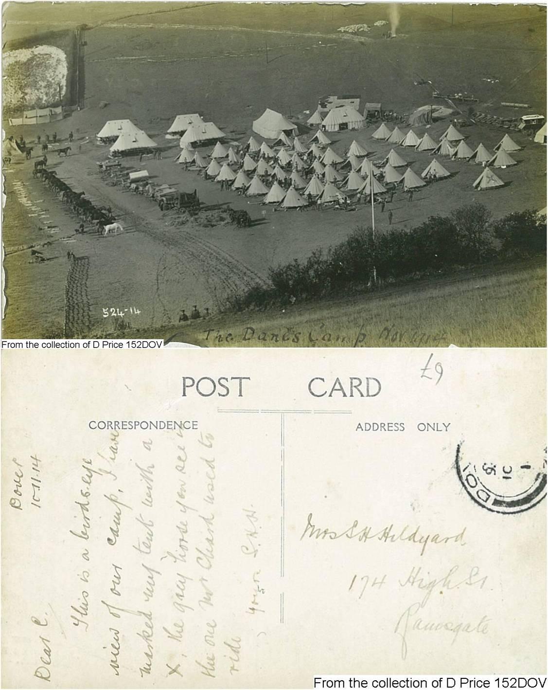 152DOV - Camp (Postcard) (Front & Back)