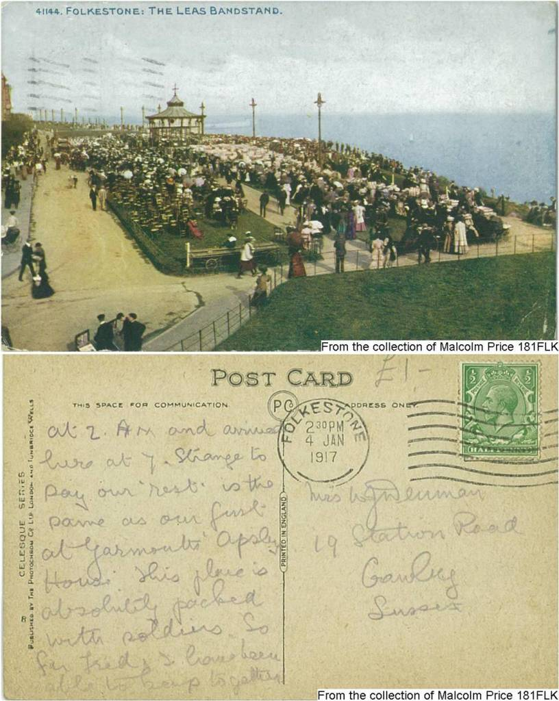 181FLK - The Leas Bandstand (Front & Back) 1