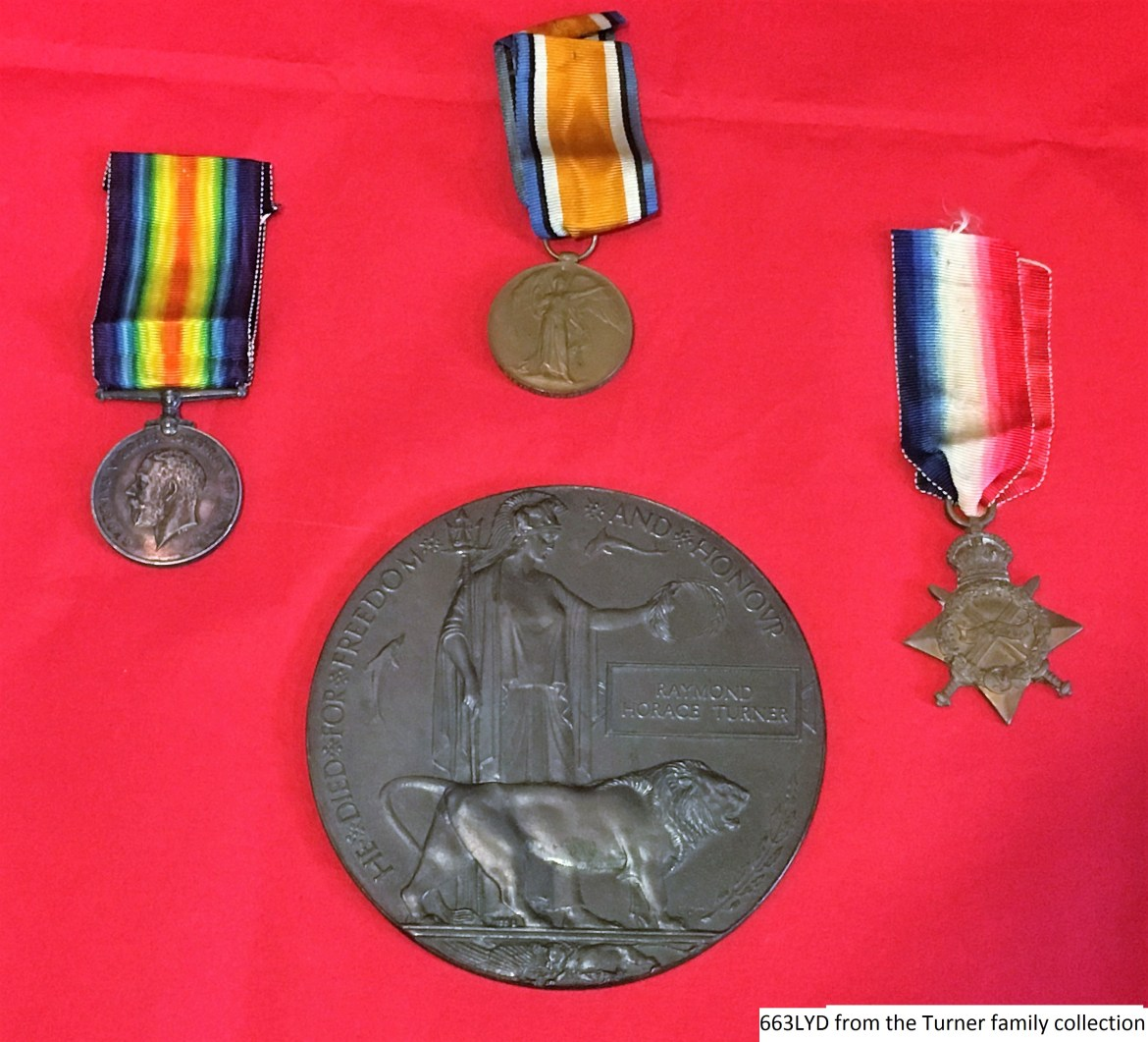 Raymond Turner Death Penny and Medals