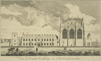 View of Eton College in Buckinghamshire.